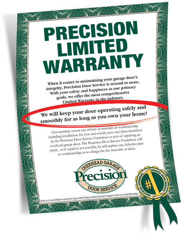 Garage door repair warranty by precision garage door of for Garage door repair lehigh acres